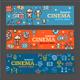 Cinema Banner Card Tickets Set - GraphicRiver Item for Sale