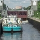 Ship In Front Of Gate Of Sluice Moscow Canal In Moscow, Russia. . - VideoHive Item for Sale