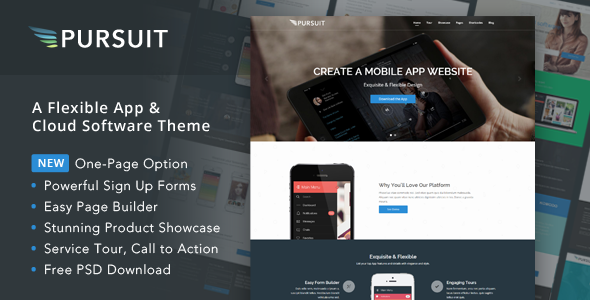 Pursuit - Flexible App & Cloud Software Theme - Software Technology