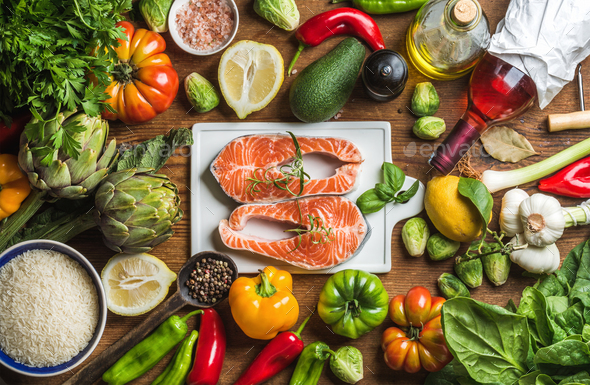 Dinner cooking ingredients - Stock Photo - Images
