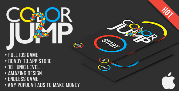 Color Jump 2 iOs Game - CodeCanyon Item for Sale