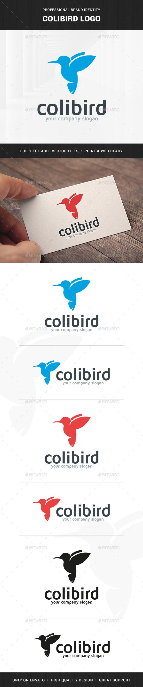 Colibri Bird Logo Template - Animals Logo Templates