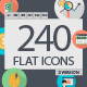 240 Flat Icons - GraphicRiver Item for Sale