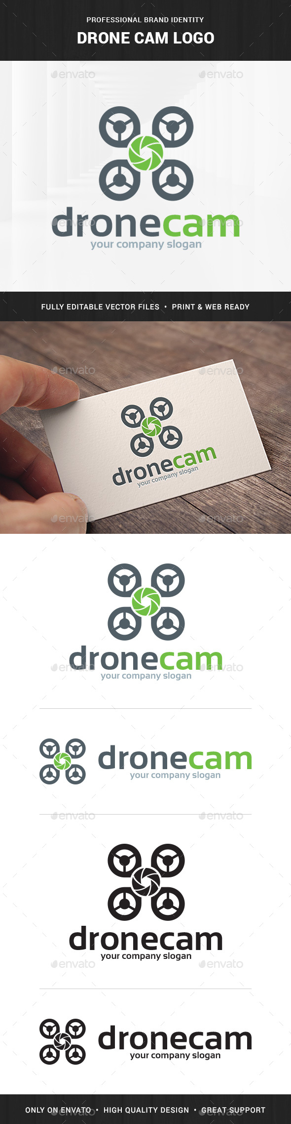 Drone Cam Logo Template - Objects Logo Templates