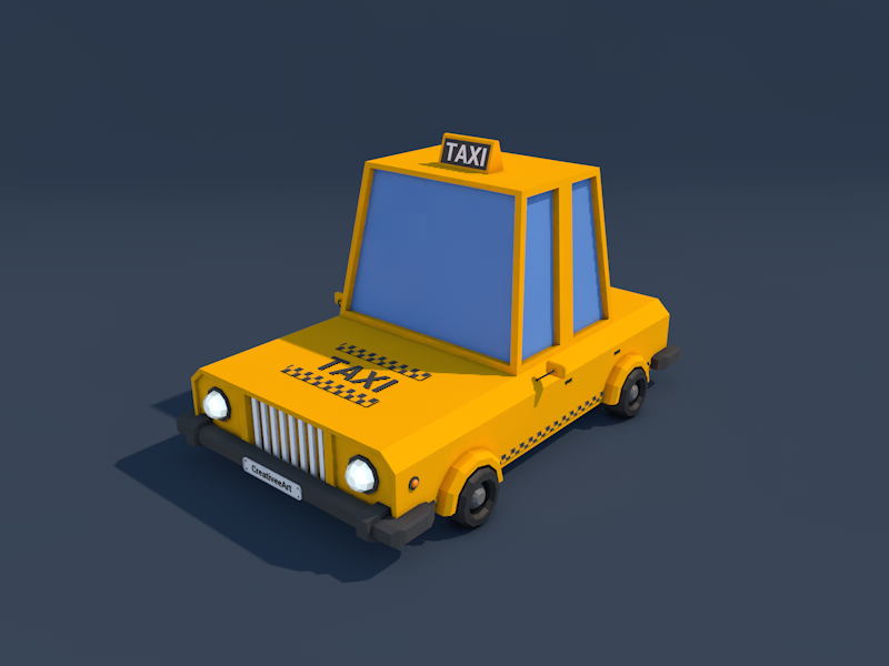 Low Poly Taxi Car