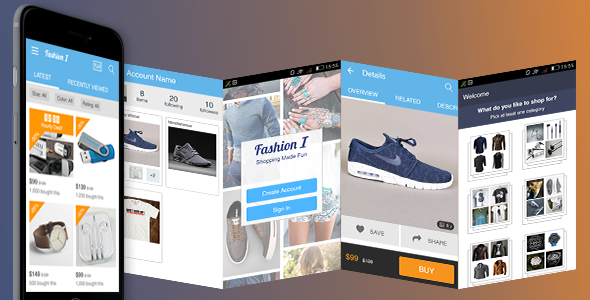 Ionic Theme, Ionic Template for Fashion, Clothing, Apparel Store Mobile Application - CodeCanyon Item for Sale