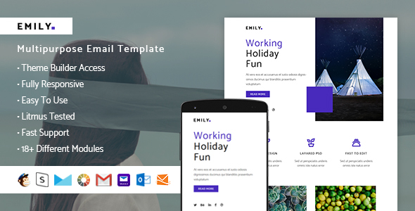 Emily – Responsive Email + StampReady Builder - Email Templates Marketing