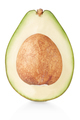 Avocado section on white, clipping path - PhotoDune Item for Sale