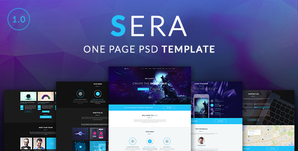 Sera – One Page Multi-Purpose PSD Template