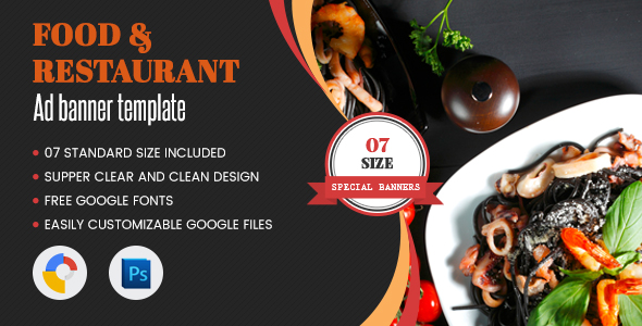 Food & Restaurant Banners HTML5 - Google Web Designer - CodeCanyon Item for Sale