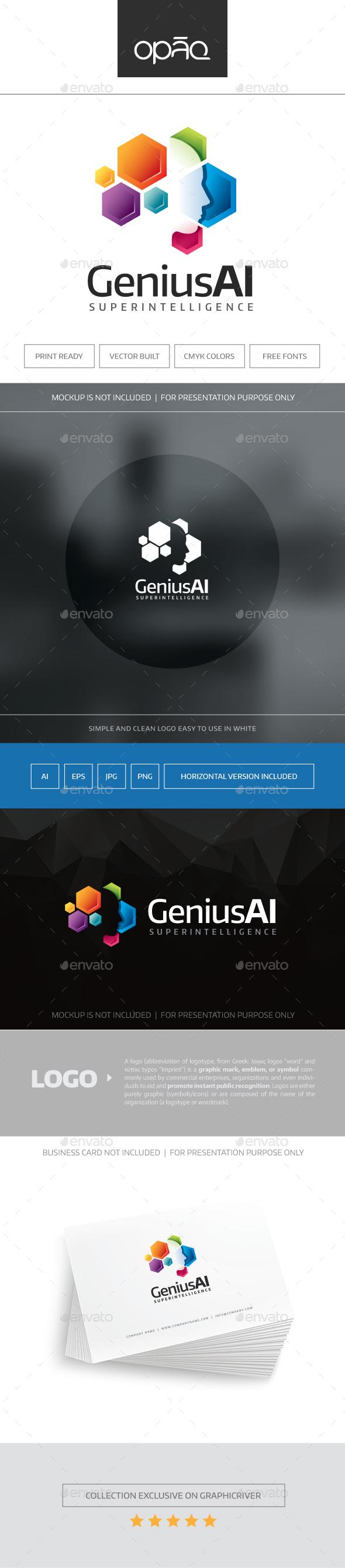 GeniusAI Logo - Humans Logo Templates