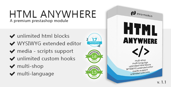 Html Anywhere for Prestashop - CodeCanyon Item for Sale