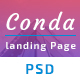 Conda App Landing Page PSD Template - ThemeForest Item for Sale