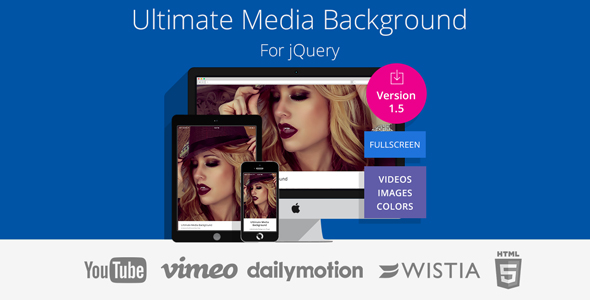 Ultimate Media Background for jQuery - CodeCanyon Item for Sale