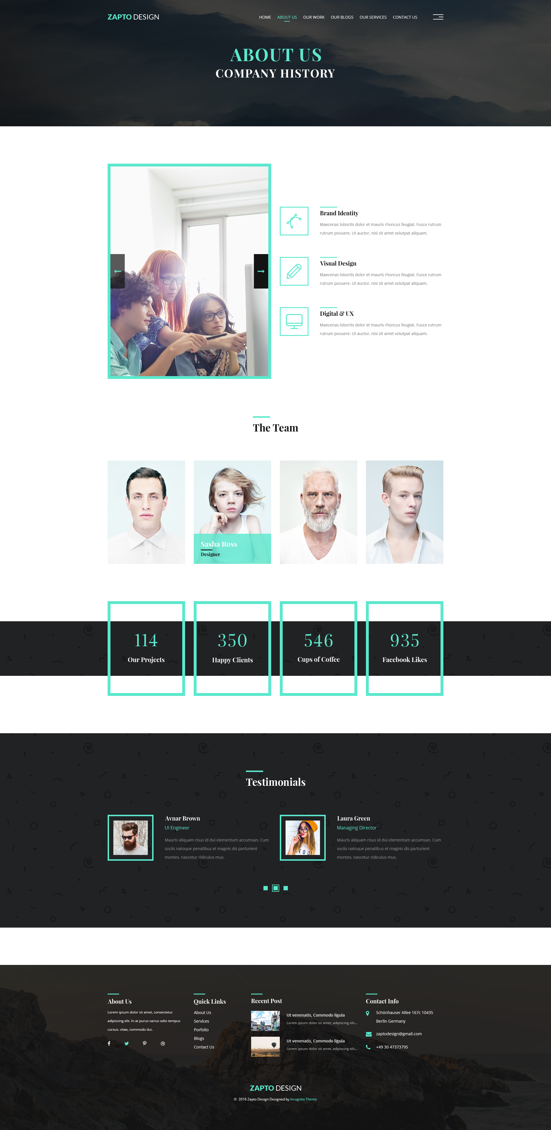 Zapto Design - Multi-Purpose PSD Template