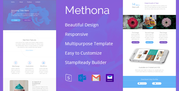 Methona – Creative Email Template