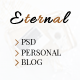 Eternal - Personal Elegant Blog PSD - ThemeForest Item for Sale