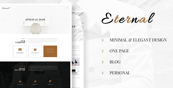 Eternal – Personal Elegant Blog PSD