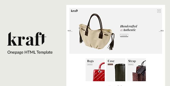Kraft – Onepage HTML Template
