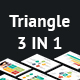3 IN 1 Triangle - Multipurpose PowerPoint Presentation Bundle - GraphicRiver Item for Sale