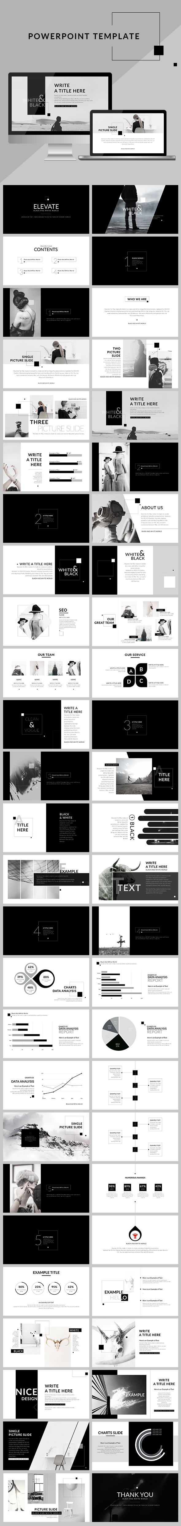 Black & White - Creative clean Powerpoint presentation - Creative PowerPoint Templates