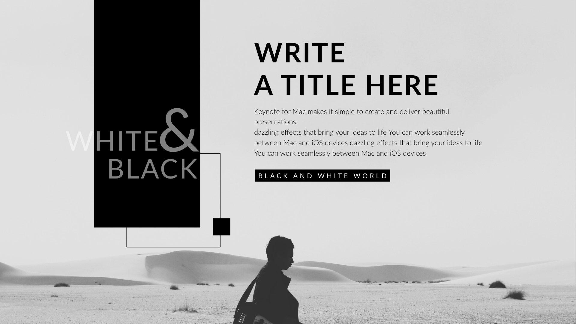 Black white creative clean powerpoint presentation by 5yue black white creative clean powerpoint presentation toneelgroepblik Images