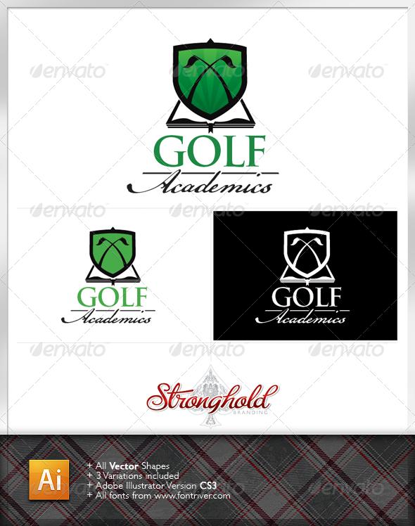 Golf Academy Logo Template - Crests Logo Templates