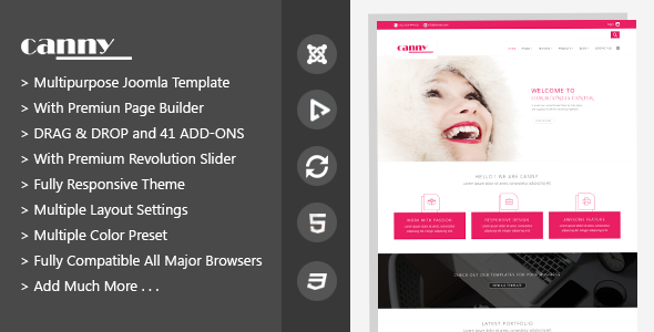 Canny | Responsive Multipurpose Joomla Template