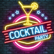 Neon / Cocktail Party Flyer - GraphicRiver Item for Sale