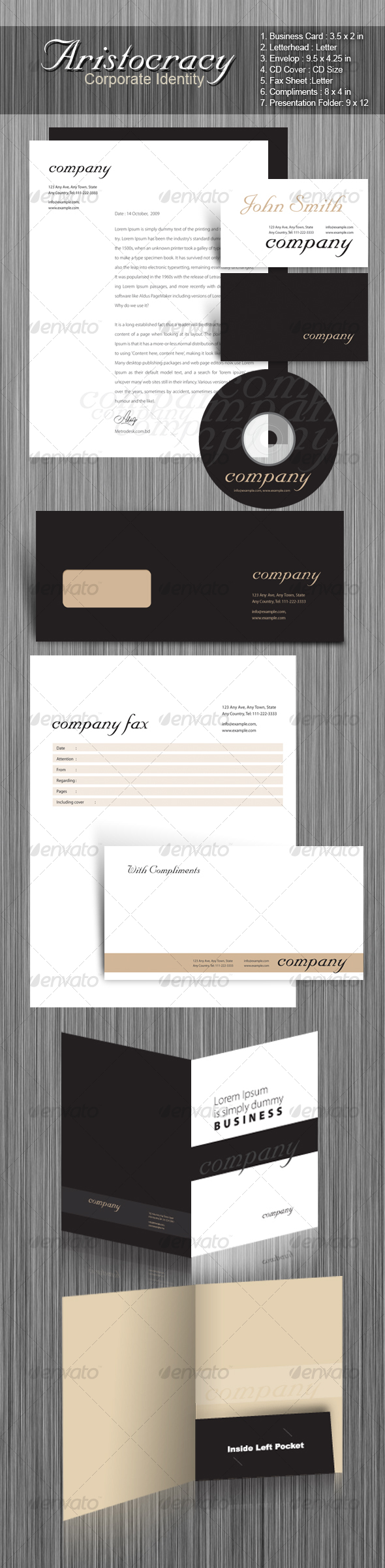 Aristocracy Corporate Identity - Stationery Print Templates