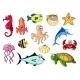 Cartoon Sea Animals for Underwater Wildlife Design