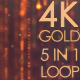4K Gold Particle Pack 5 in 1 - VideoHive Item for Sale