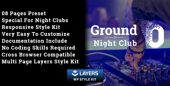 Ground0 - Night Club Layers WP Style Kit - CodeCanyon Item for Sale