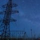 Power Transmission Line Tower On a Starry Sky. - VideoHive Item for Sale