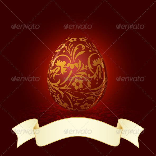 Easter Egg with Floral Decoration - Seasons/Holidays Conceptual