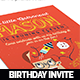 Brainy Kid Birhday Invitation Card - GraphicRiver Item for Sale