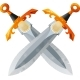 Two Crossed Swords - GraphicRiver Item for Sale