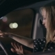 Woman In Car Having Fun At Night Dancing - VideoHive Item for Sale
