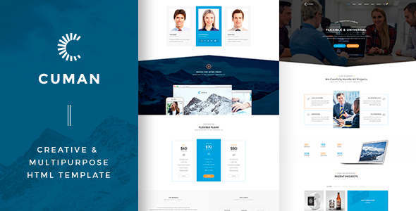 CUMAN — Creative & Multipurpose HTML Template - Marketing Corporate
