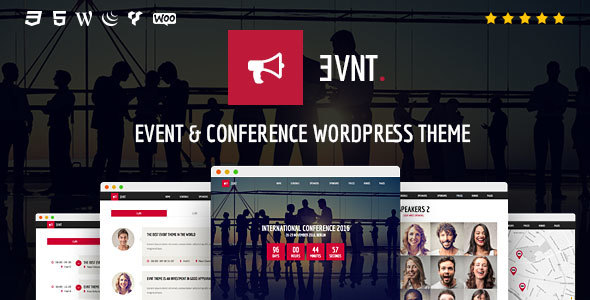 Evnt - Event and Conference WordPress Theme - Events Entertainment