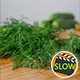 Falling Fresh Fennel On Wooden Cutting Board - VideoHive Item for Sale