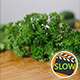 Fresh Parsley Falling On Wooden Cutting Board 2 - VideoHive Item for Sale