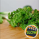 Fresh Parsley Falling On Wooden Cutting Board - VideoHive Item for Sale