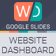 Website Dashboard Google Slides Presentation - GraphicRiver Item for Sale