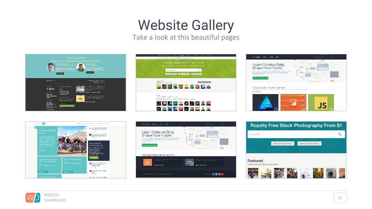 website dashboard google slides presentation by adriandragne