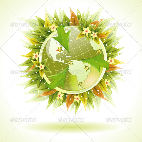 Concept - Environmentally Friendly Planet - Industries Business