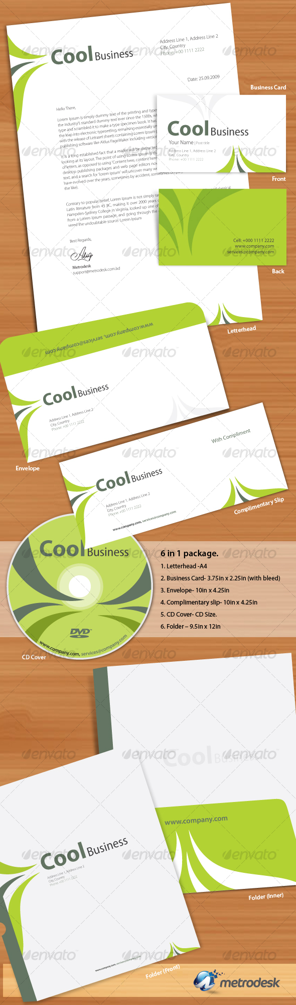 Cool Corporate Identity - Stationery Print Templates