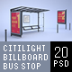 Citylights, Billboards, Bus Stops. White Mockup. - GraphicRiver Item for Sale