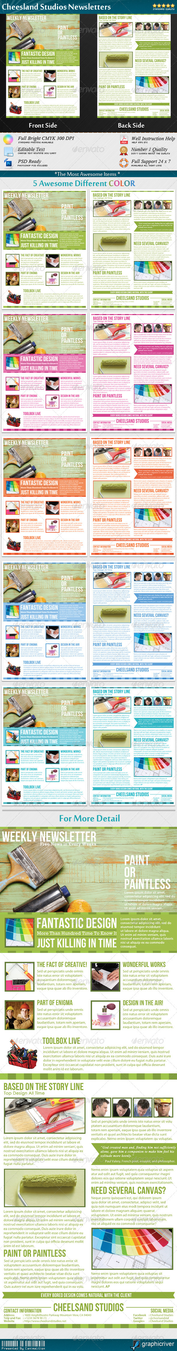 Cheesland Studios Newsletters - Newsletters Print Templates