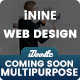 UI Kits iNine Coming Soon Pages Web Design - 04 PSD